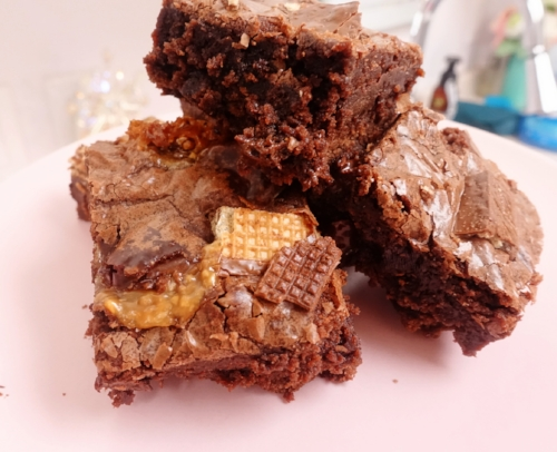 Snickers Kit Kat Brownies