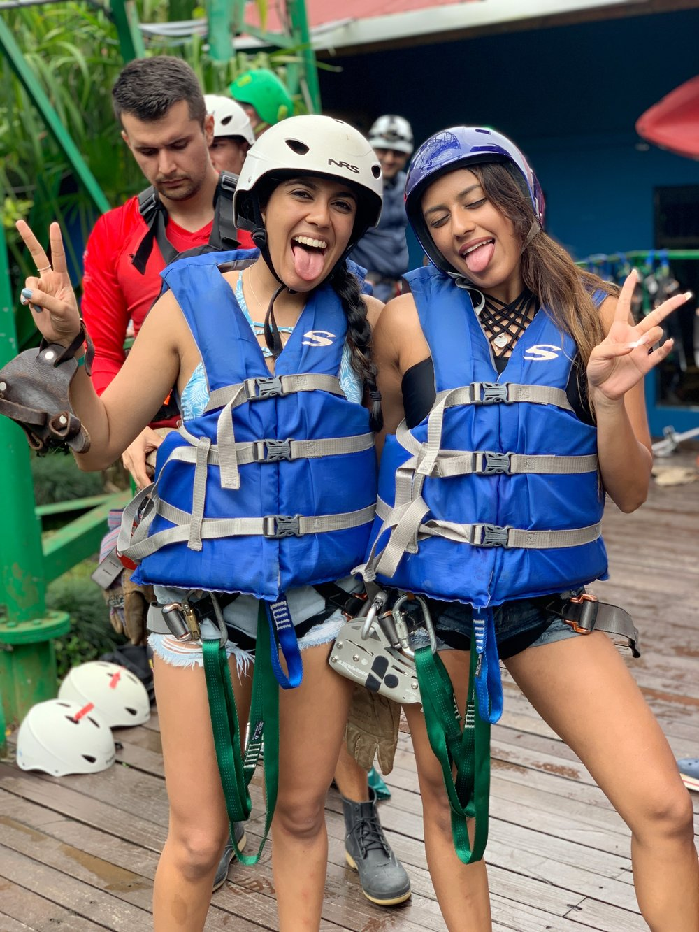 Zip lining and river drifting gear!