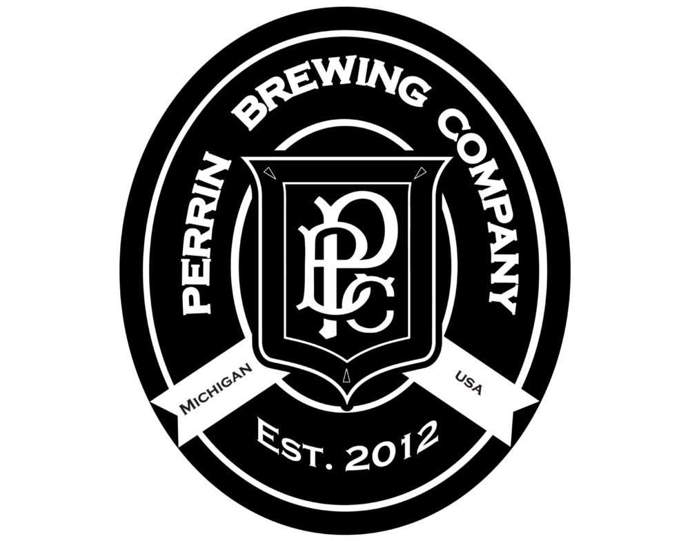 Perrin Brewing Company logo. Links to Perrin Brewing Company website.