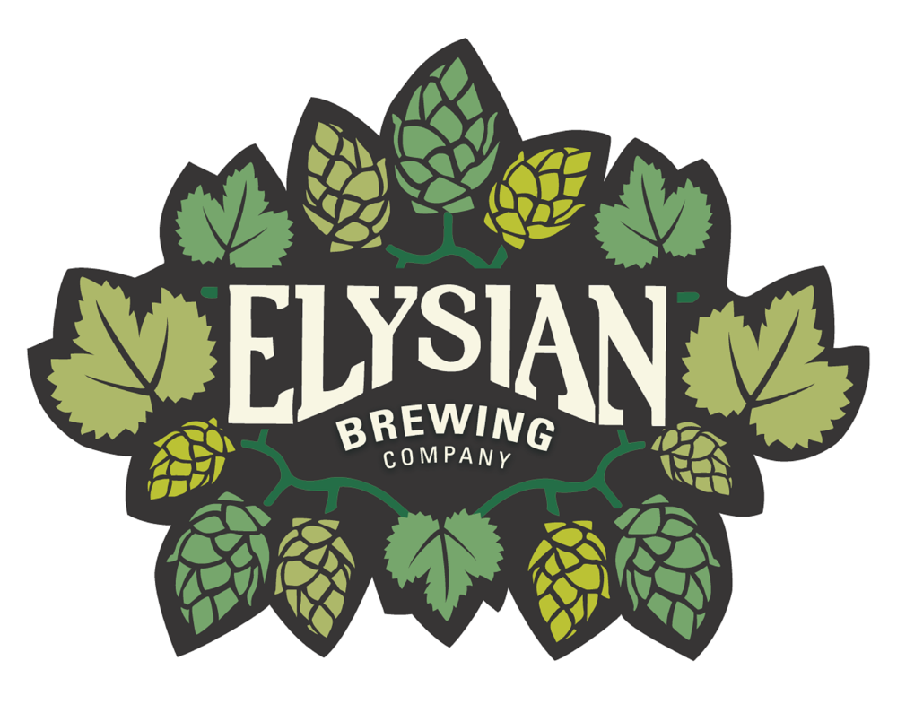 Elysian Brewing Company logo. Links to Elysian Brewing Company website.