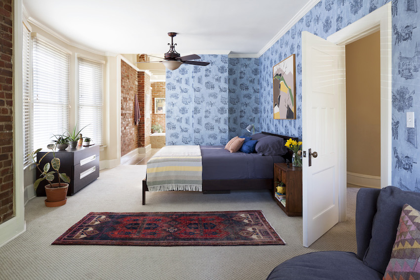 13-Master-Bedroom-in-Batya-and-Matts-Wallpapered-Colorado-Home-DesignSponge.jpg