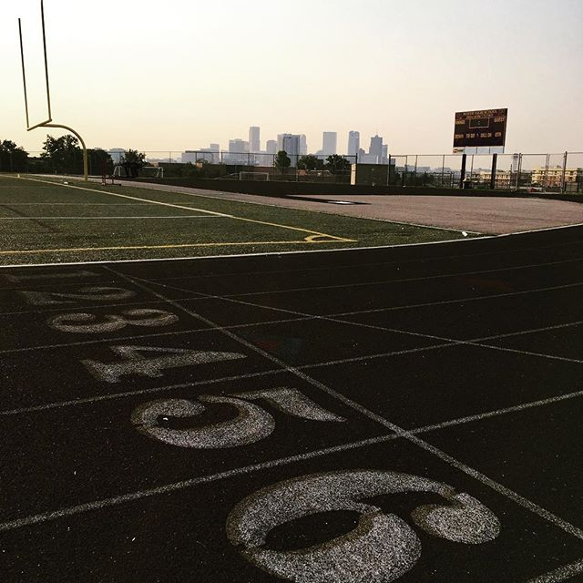 Hill reps, track work with a view, and porta potty sprints on the OZ breakfast menu this morning. #hillsforbreakfast #OZAC