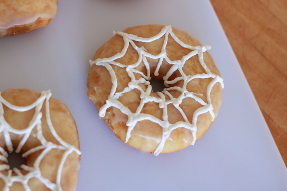 Repeat the same process on the outer portion of the donut. If icing gets too runny, refrigerate it for about 10 minutes!