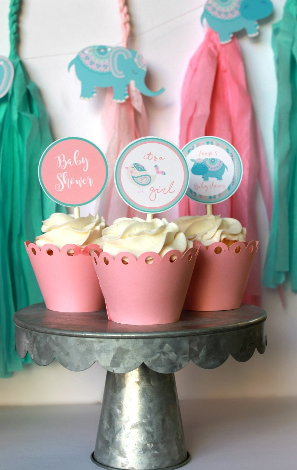 Virtual Baby Shower-It's A girl Cupcake toppers-www.SugarPartiesLA.com.jpg