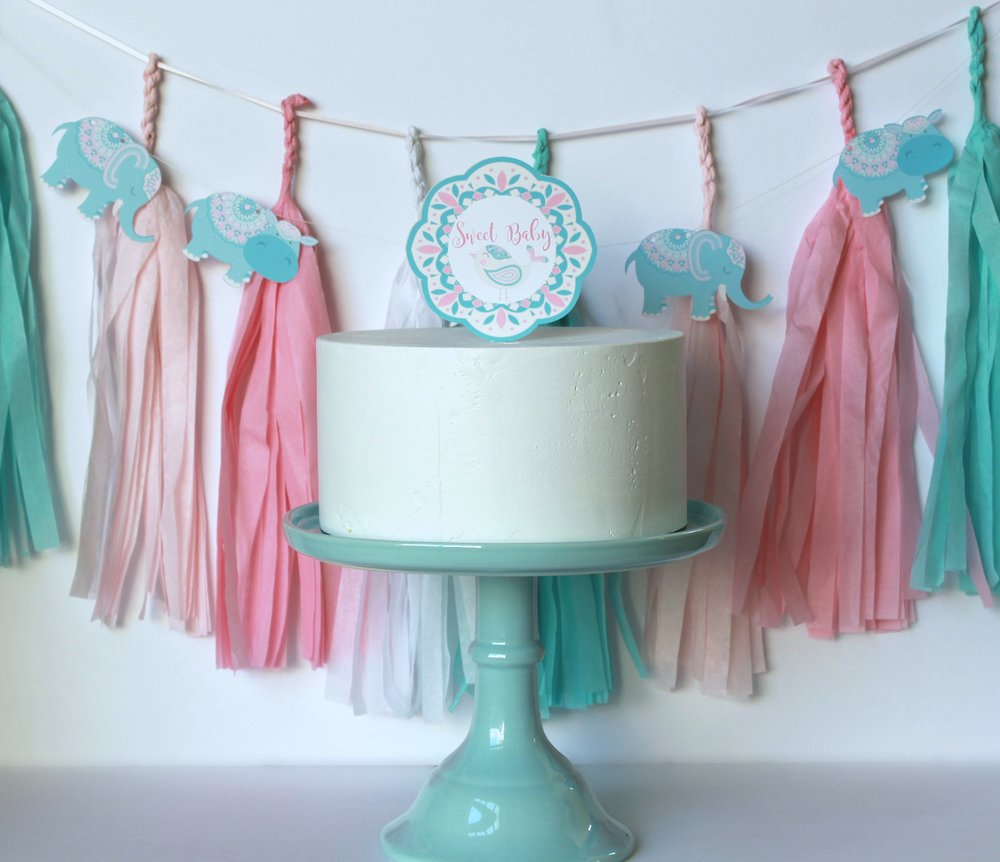 Boho chic-Sweet Baby Cake Topper-Baby Shower-www.SugarPartiesLA.com.jpg