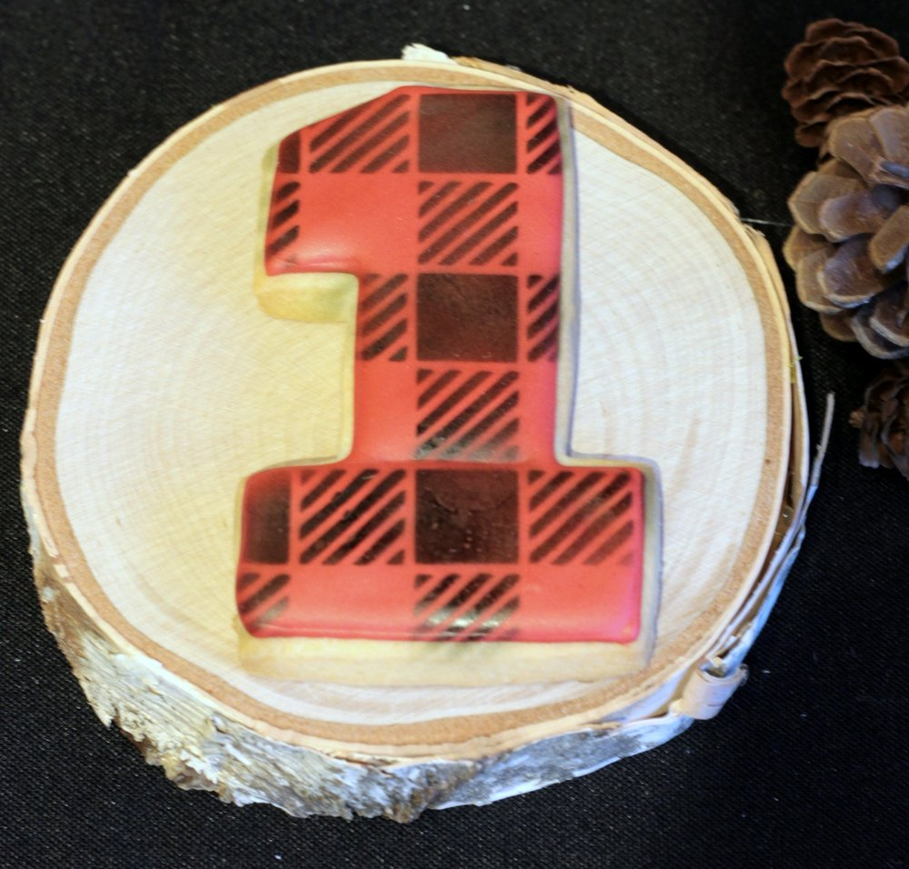 plaid cookie-first birthday-one cookie-www.SugarPartiesLA.com.jpg