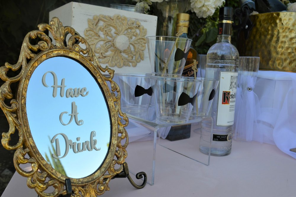 Have a drink-wedding ideas-wedding drink table-wedding drink ideas-blush wedding-garden wedding -wedding drinks-wedding champagne-wedding ideas-www.SugarPartiesLA.com.jpg