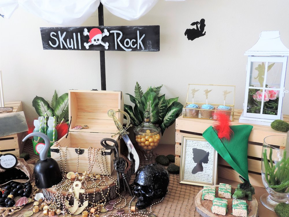 Skull Rock-Peter Pan party-Peter pan and Wendy-Peter Pan party ideas-Never Grow Up-www.SugarPartiesLA.com