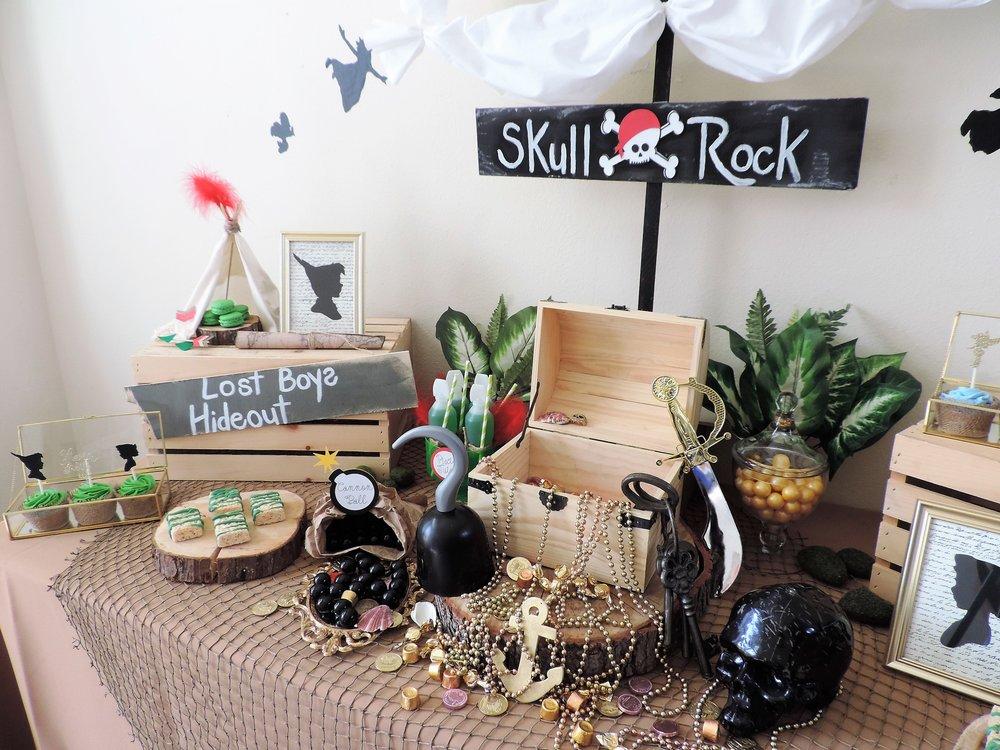 Never Grow Up-Peter Pan party Ideas-Peter pan birthday-Pirate party-Never grow up-Kids birthday-peter pan birthday-www.Sugarpartiesla.com