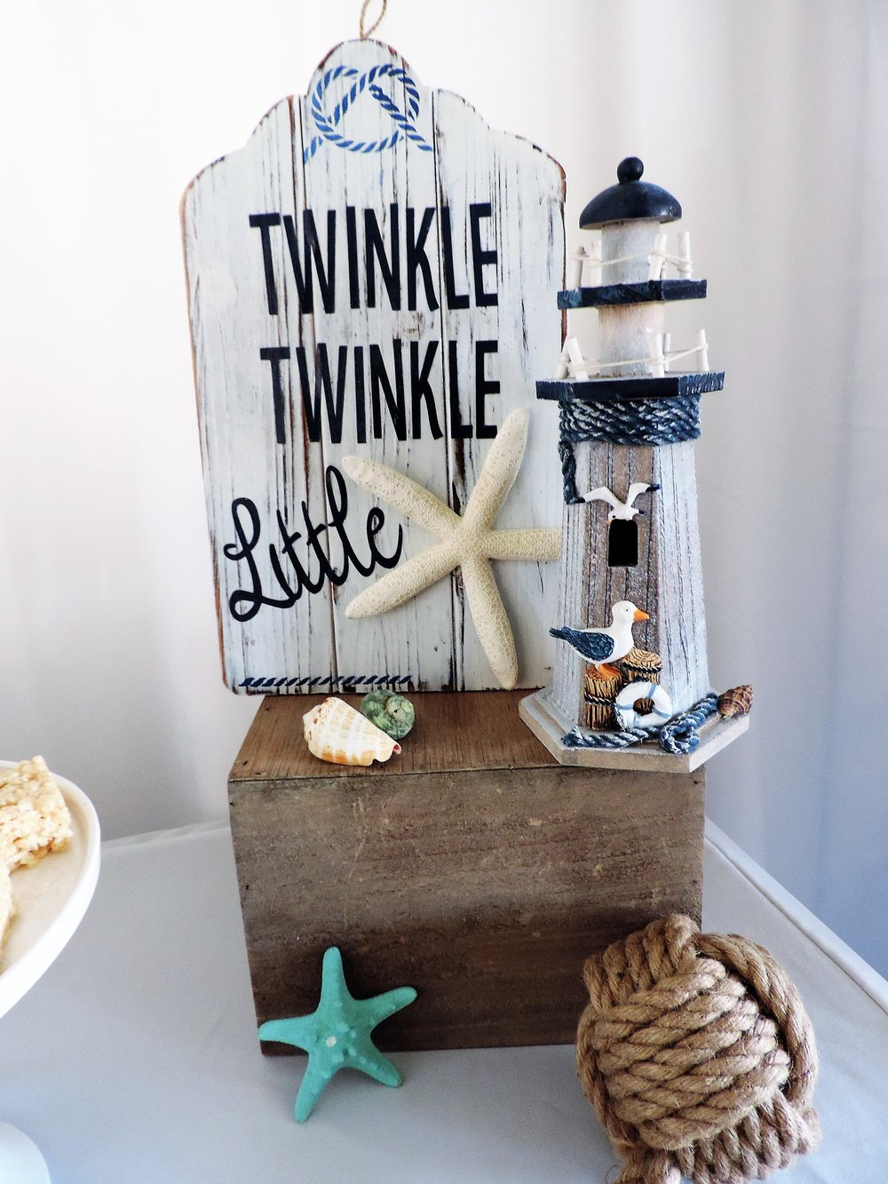 Twinkle Twinkle Little Star-nautical shower-boy baby shower-beachy theme shower-www.SugarPartiesLA.com