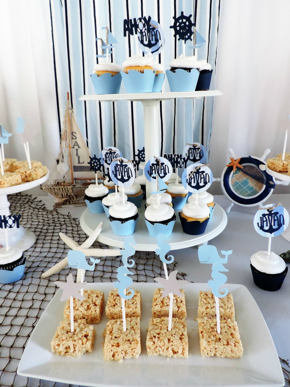 Nautical baby shower-nautical baby boy baby shower-nautical shower-nautical dessert table-nautical baby shower ideas-boy baby shower-www.sugarpartiesla.com.jpg