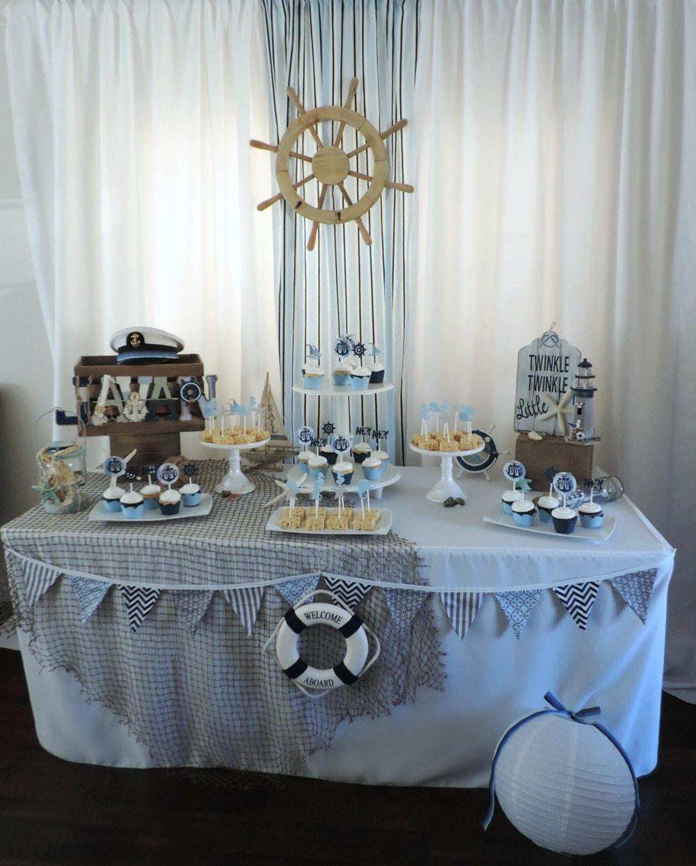 Ahoy Its a Boy baby shower-boy baby shower-beachy baby shower-baby shower dessert table-nautical baby shower-boy baby shower ideas-www.SugarPartiesLA.com.jpg