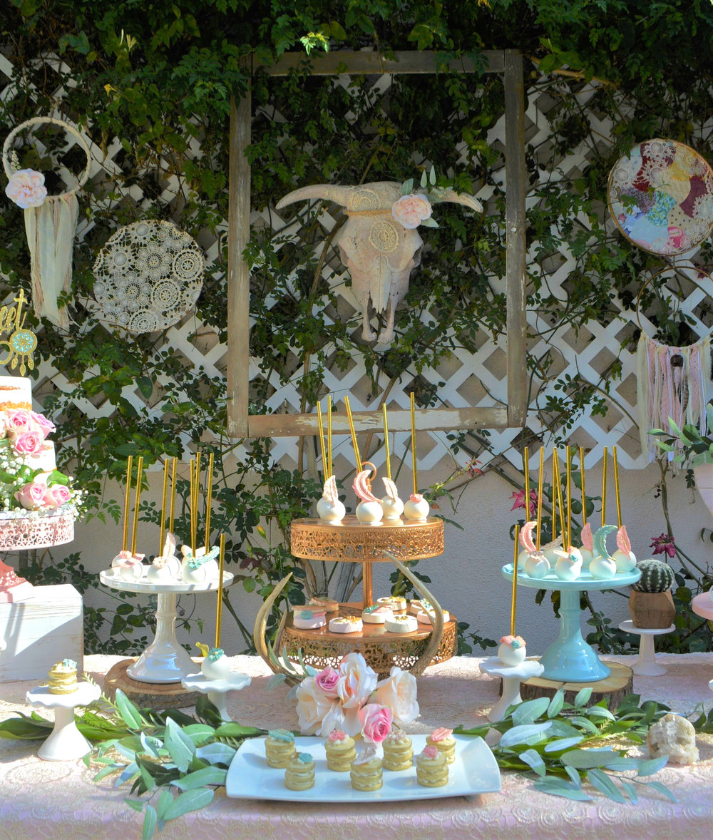 Sweet 16-sweet sixteen-boho sweet 16-sweet sixteen birthday party-boho chic birthday-boho dessert table-birthday party ideas-sweet 16 party ideas-www.SugarPartiesLA.com.jpg