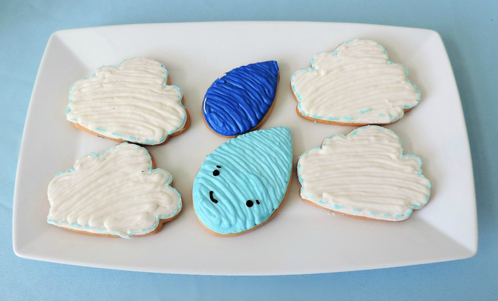 Clouds and Rain Drop cookies-Showered with love-april showers bring may flowers- showered with love-showered with love baby shower-www.SugarPartiesLA.com.jpg