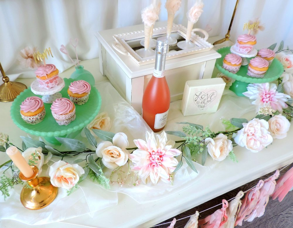Mother's Day Party Ideas-Mother's Day party-Champagne and Cupcakes-Champagne Flutes-Love is All you Need-Mom cupcake toppers-www.SugarPartiesLA.com.jpg