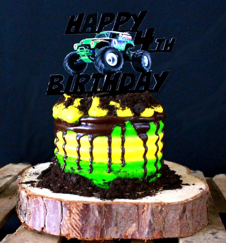 Grave Digger-Monster Truck Birthday-Easy Monster Truck Cake-Cake Diy-Grave Digger Topper-www.SugarPartiesLA.com.jpg