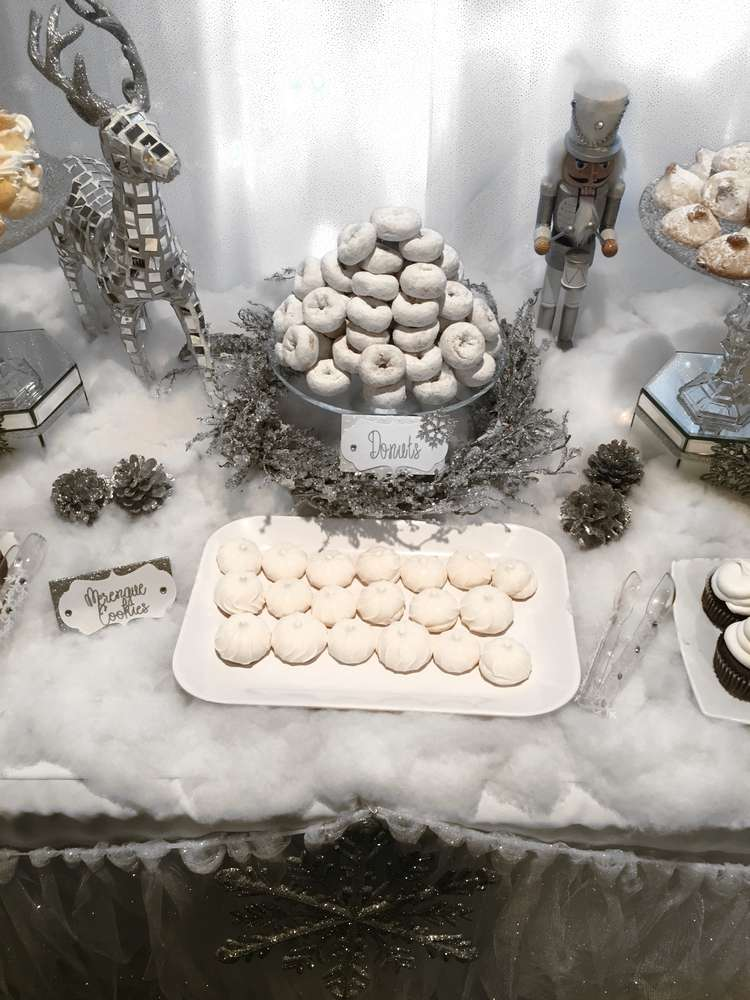 Winter Wonderland Table Decor Part - 20: Winter Wonderland-Winter Wonderland Dessert Table-Winter Wonderland party-White  Christmas Party-