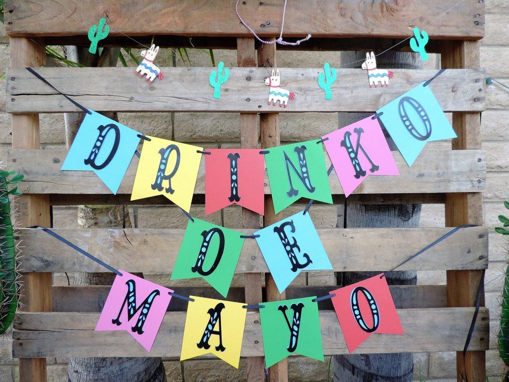 Drinko De Mayo Banner-Tequila Party Table-Cinco De Mayo Party-Tequila Party-Fiesta Party-Fiesta Drink Table-Tequila Party Ideas-Drinko De Mayo-Cinco De Mayo Party Idea-Mexican Theme Party-Fiesta-Cinco De Mayo Party Ideas and Decor-Taco Party-www.SugarPartiesLA.com