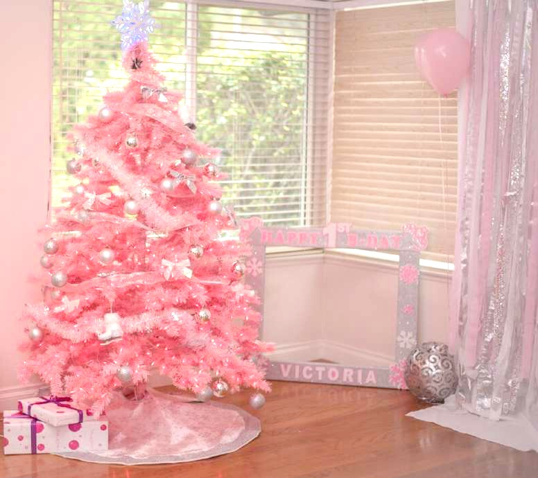 Winter Onederland-First Birthday Party-Winter ONEderland First Birthday party-Winter themed birthday-Frozen Birthday Party-Winter Party Ideas-Winter First Birthday Party-Pink Christmas-Pink Christmas Tree-www.SugarPartiesLA.com
