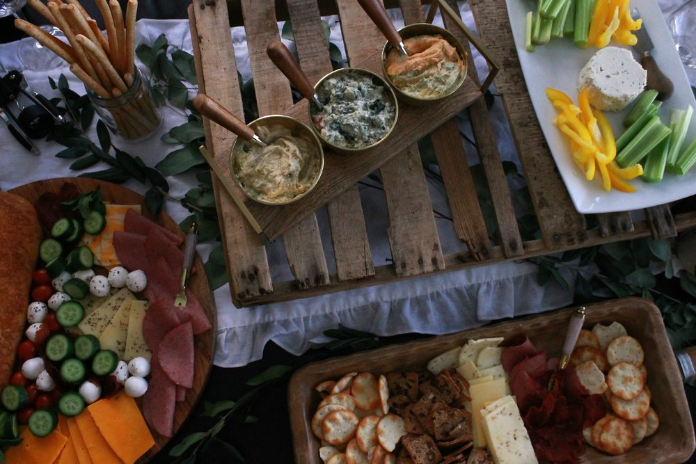 Cheese and Cracker-Rustic Food Table-Cheese and Cracker Board Ideas-Food Style-Cheese Crackers and Wine Night-www.SugarPartiesLA.com.jpg