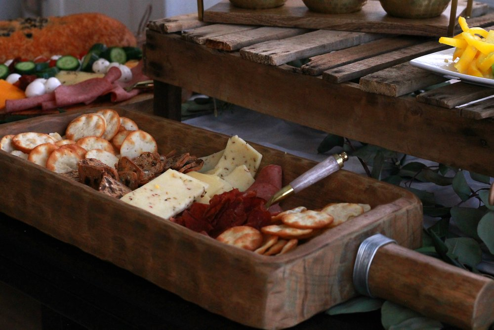 Rustic Board Food Ideas Wooden Rose Wine Night