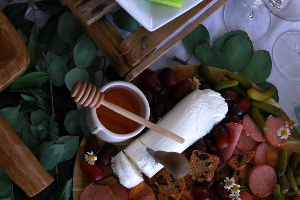 Cheese and Honey-Honey Stick-Rose-Wine Night-Cheese and Cracker Ideas-Girls Night In-Cheese Cracker and Wine Night-Cheese Board Ideas-www.SugarPartiesLA.com.jpg
