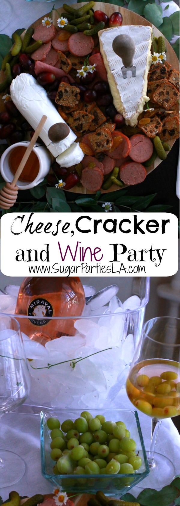 Cheese And Cracker Board Appetizer Spring Party Ideas