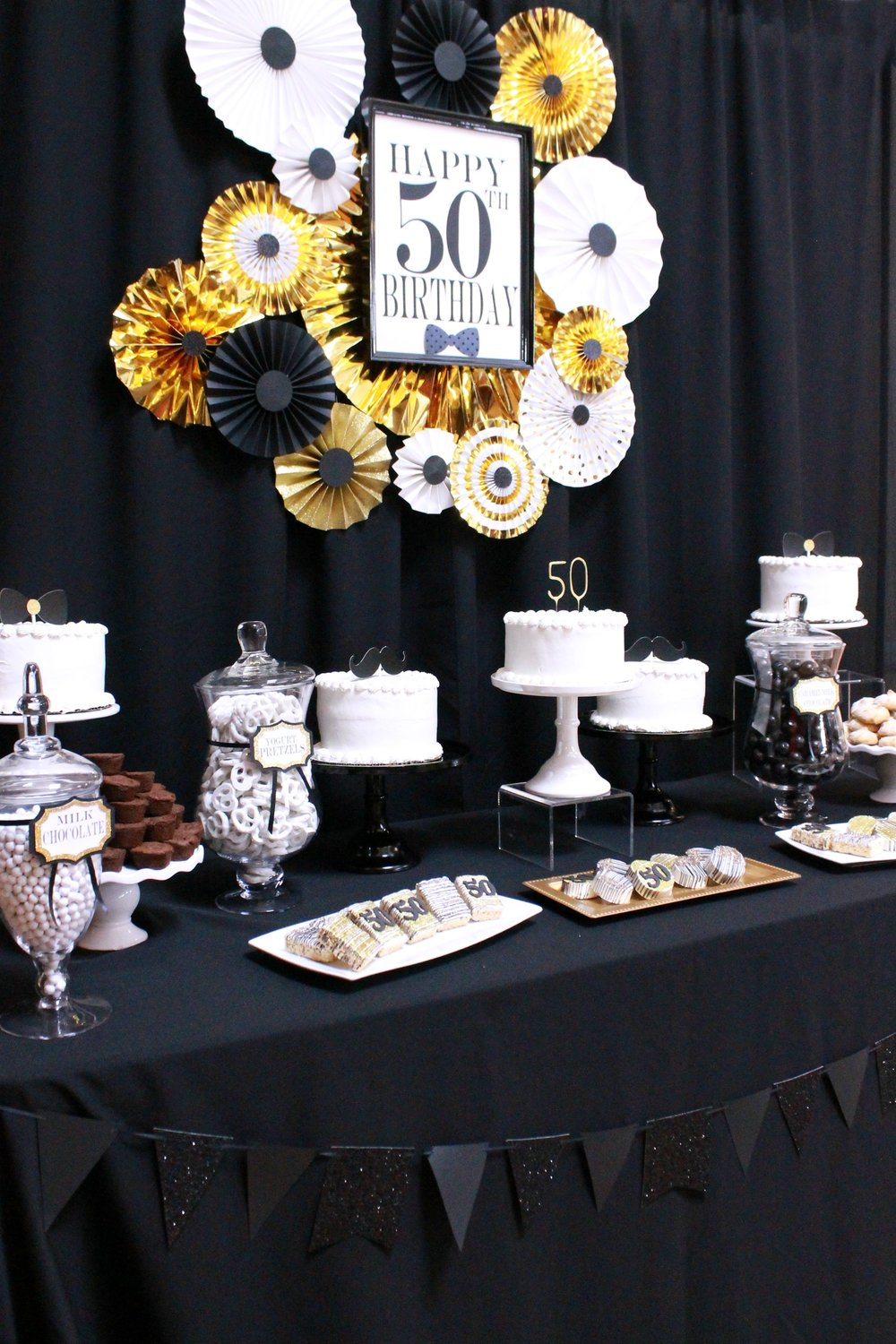 50th Birthday Blackgold And White Party50th Party IdeasHappy