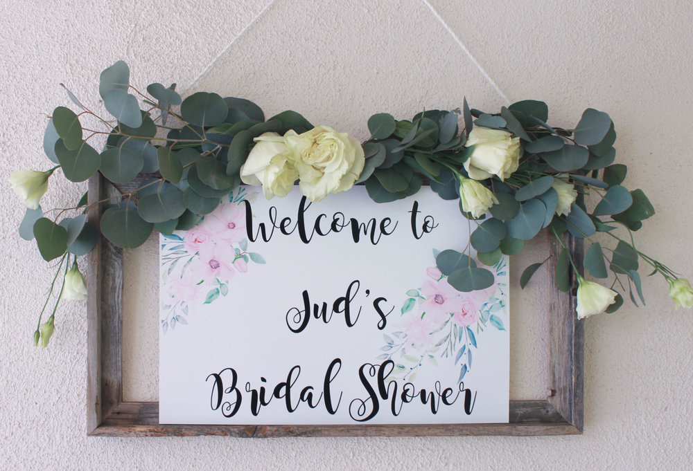 Bridal Shower welcome sign-Welcome sign-bridal shower-garden shower-www.SugarPartiesla.com.jpg