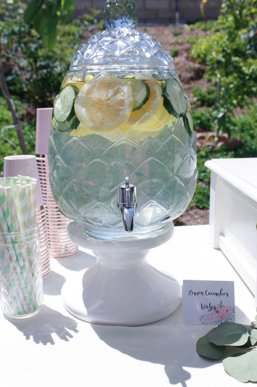 lemon cucumber water-hydration station-bridal shower-www.sugarpartiesla.com.jpg