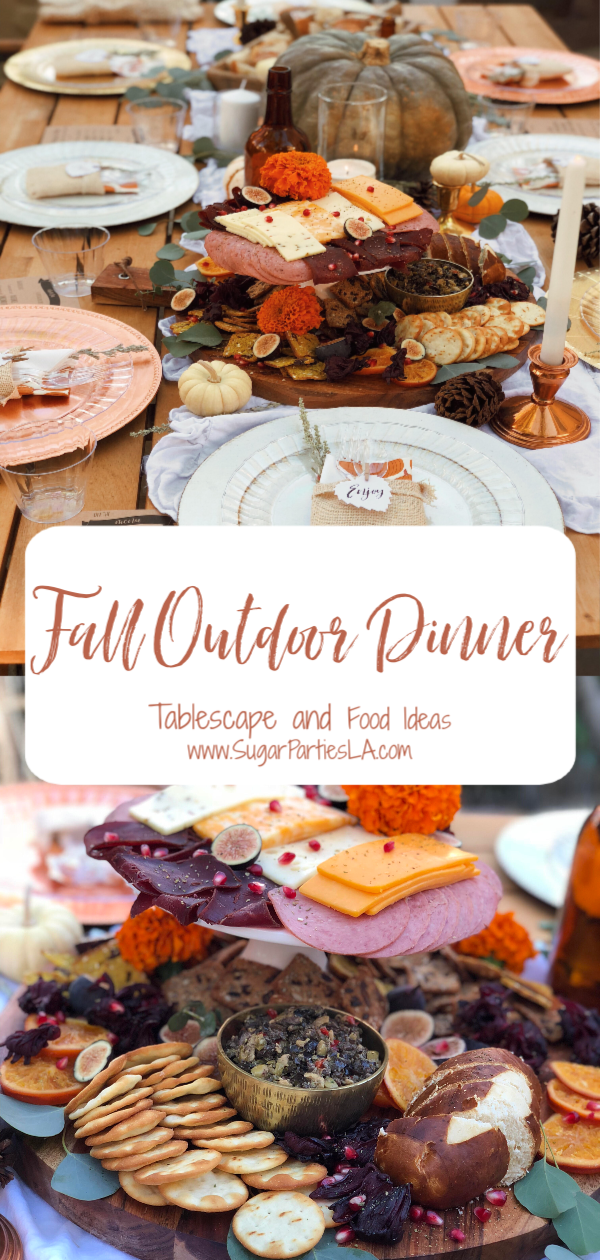 Fall outdoor dinner and dining-www.sugarpartiesla.com-fall dinner ideas-fall outdoor dining