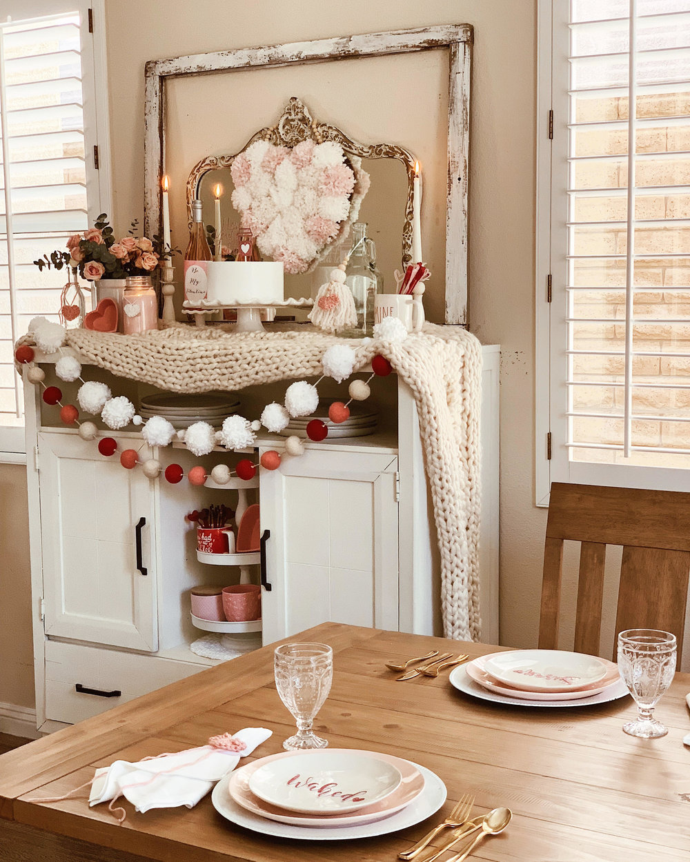 Valentine Home Decor Ideas-Cozy Valentine Decor-Farmhouse Valentine Decor-www.SugarPartiesLA.com.jpg