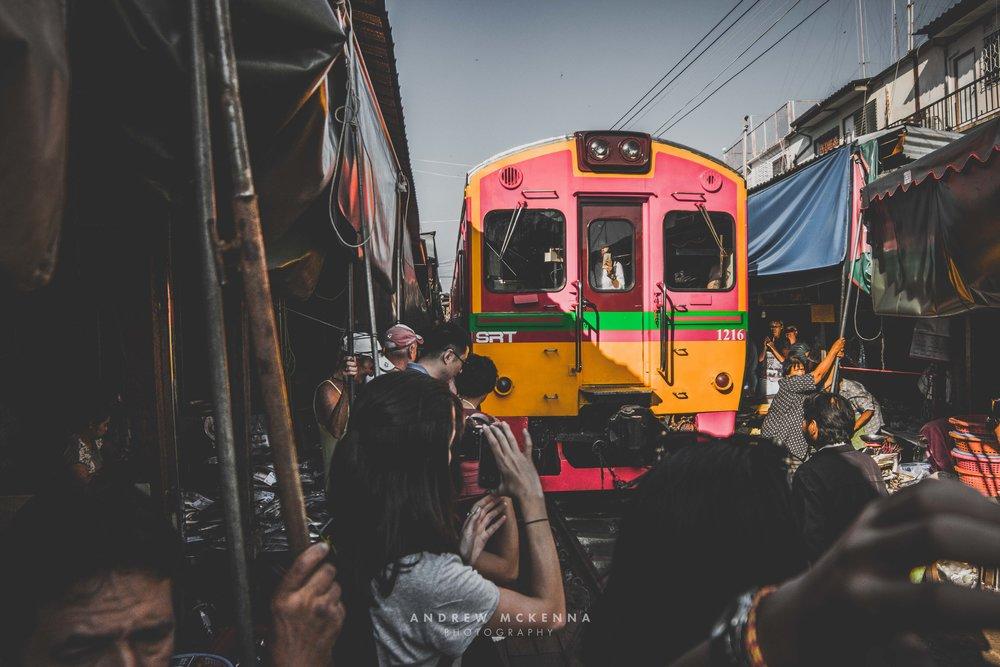 Maeklong Railway Market. Thailand, photography by Andrew Mckenna.