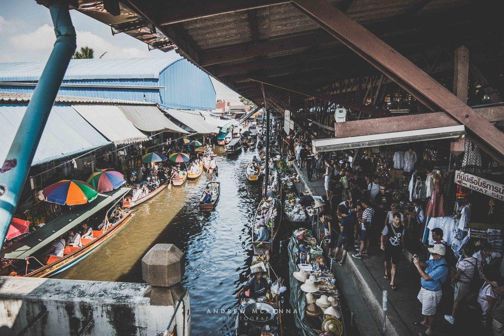 Damnoen Saduak floating market. Thailand Photography by Andrew McKenna.