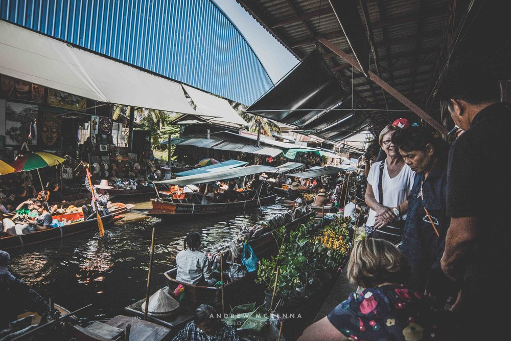 Damnoen Saduak floating market. Thailand Photography by Andrew McKenna.