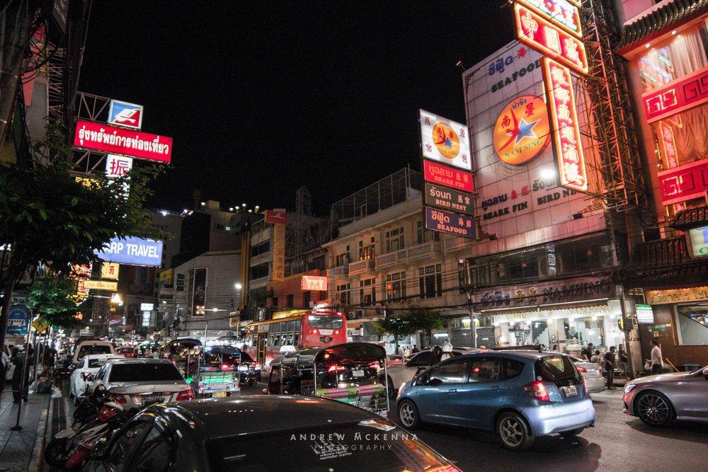 Chinatown Bangkok Thailand. Photography by Andrew McKenna.