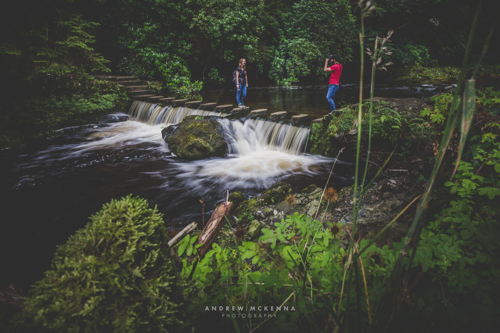 Tollymore Forest Park Stepping Stones. By Andrew McKenna Photography