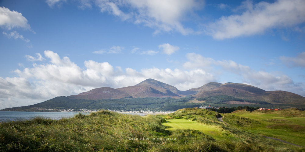Golf Photography, The Royal County Down Golf Club. Newcastle, County Down, Northern Ireland. Photographer Andrew McKenna. Irish Golf Photographer. The Mourne Mountains (www.amckphotography.com)