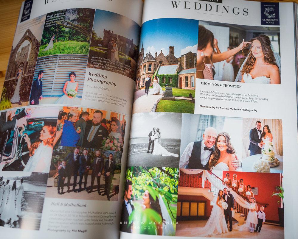 Ulster Tatler magazine Feature - Wedding Photography Andrew McKenna Northern Ireland.