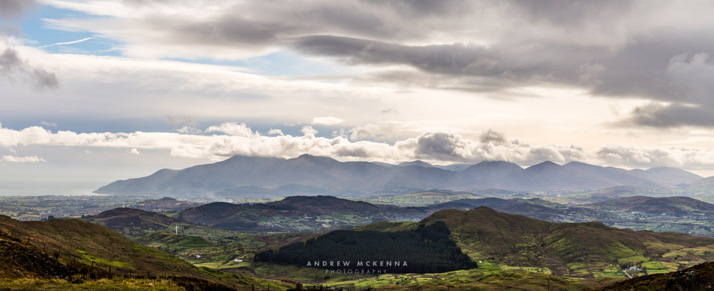 The Mourne Mountains view From Slieve Croob