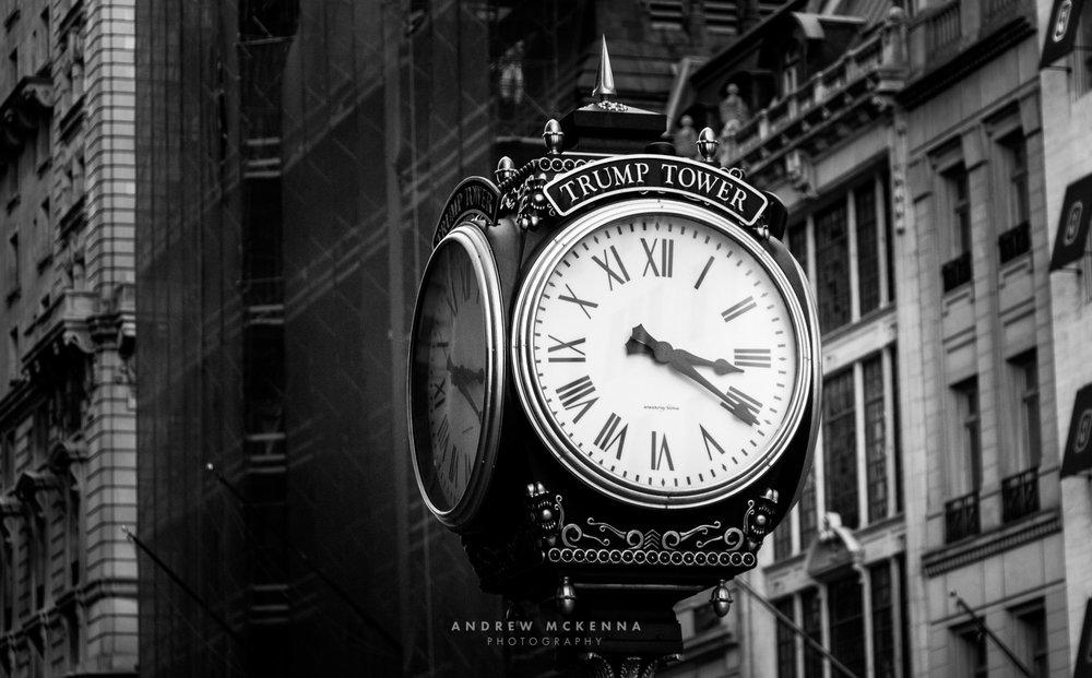 New York NYC Photographer Travel photographer Trump Tower Clock