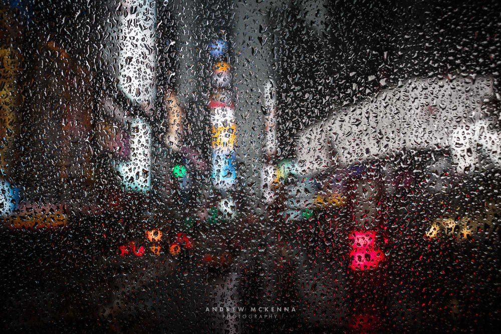 New York NYC Photographer Travel photographer Times square rain