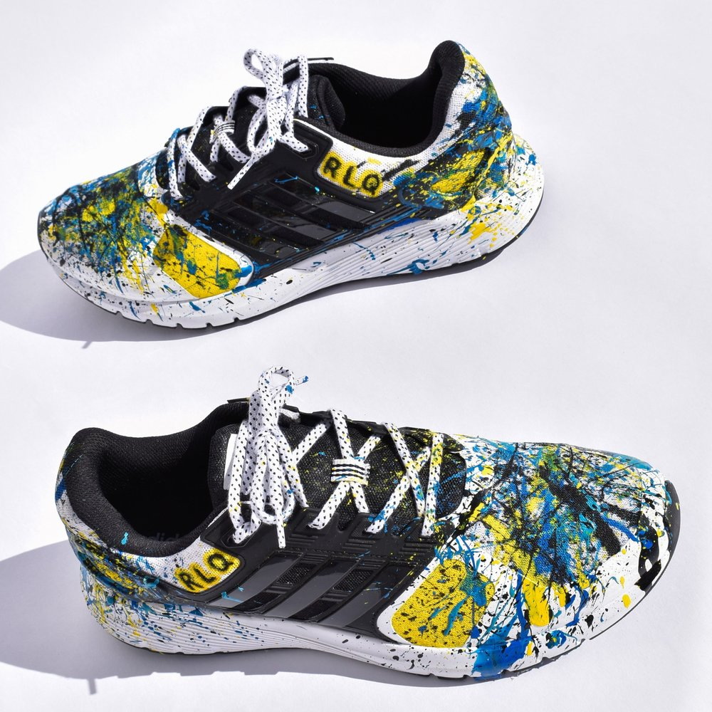 Big Kids size 4 & up through Adults   Splatter fee $100  *Price does not include cost of sneakers.