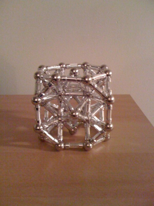 Archimedean solid made with Magnetix:  Truncated Cube