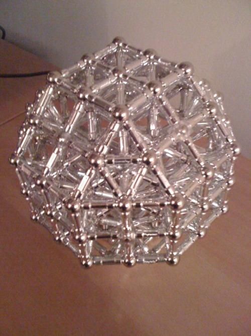 Archimedean solids made with Magnetix: Rhombicuboctahedron