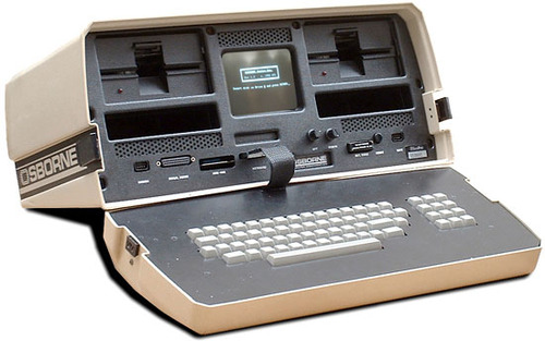 Link to the Wikipedia article on the Osborne 1–the first portable microcomputer