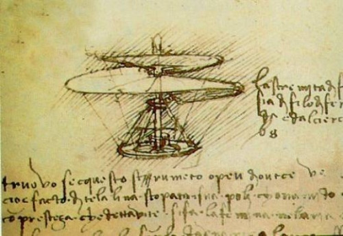 "Leonardo Da Vinci's ""aerial screw"" helicopter  is the only type of helicopter designed early enough to have delivered Maryland's 1733 monetary injection."