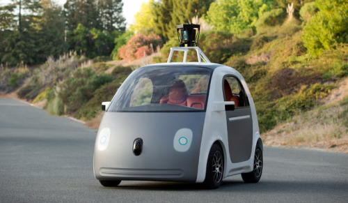 Google's autonomous car.    Image source.