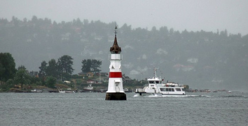 Kavringen Lighthouse in Oslo Harbor