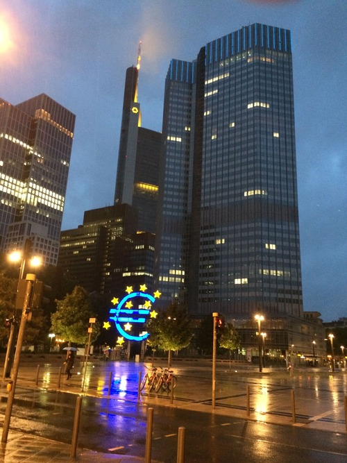 Photo of one of the European Central Bank buildings that I took when I visited. I give full permission to anyone to use this photo as long as they link to this post.